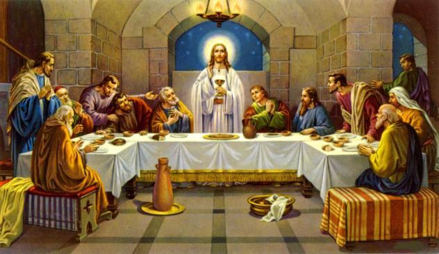 Κατά τη Μεγάλη Πέμπτη επιτελούμε ανάμνηση: Της νίψεως των ποδών των Αποστόλων υπό του Κυρίου, Του Μυστικού Δείπνου