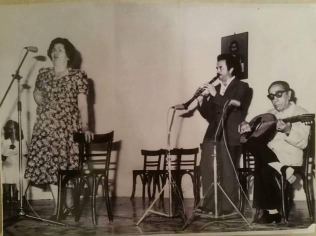 1980 Η ΕΛΈΝΗ ΛΙΑΠΗ ΑΝΑΔΙΩΤΗ και ο ΒΑΣΊΛΗΣ ΜΠΑΤΖΗΣ στο στούντιο του